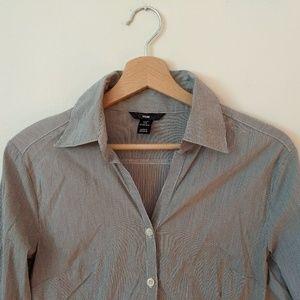 H&M Petite Womens Long Sleeve Stretch Shirt 6